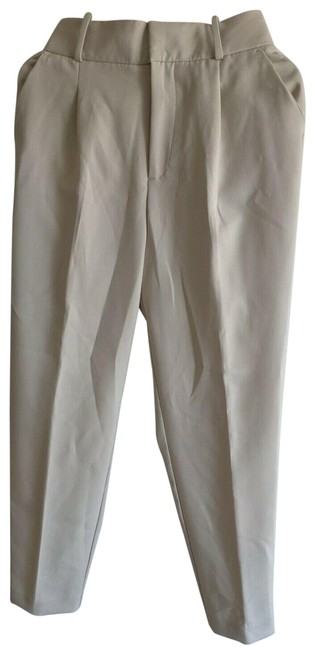 Item - Ivory Medium Wash High-waisted Belted Pants S 4387/030 Straight Leg Jeans Size 28 (4, S)