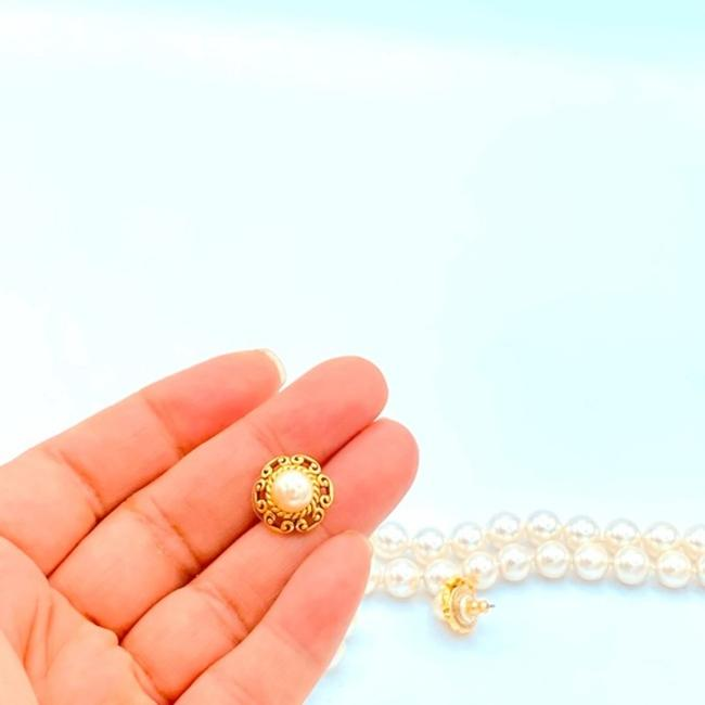Unbranded White/Gold Vintage Faux Pearl Choker Necklace Jewelry Set Unbranded White/Gold Vintage Faux Pearl Choker Necklace Jewelry Set Image 7