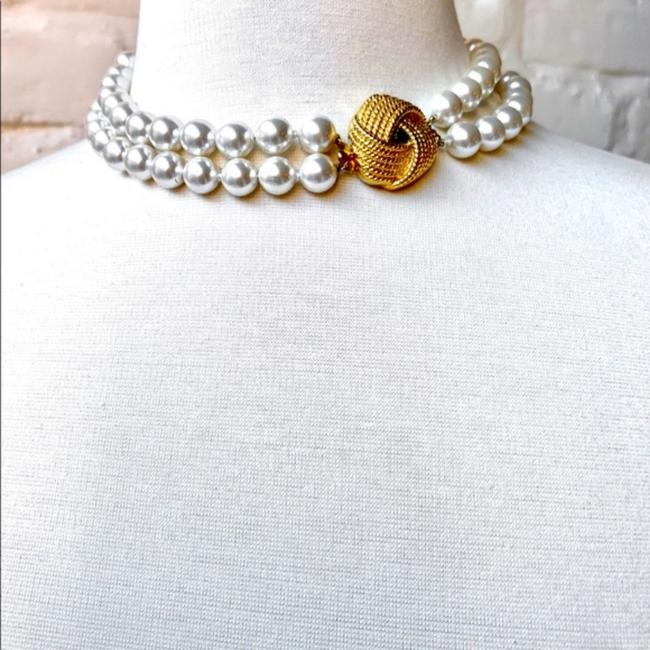 Unbranded White/Gold Vintage Faux Pearl Choker Necklace Jewelry Set Unbranded White/Gold Vintage Faux Pearl Choker Necklace Jewelry Set Image 9