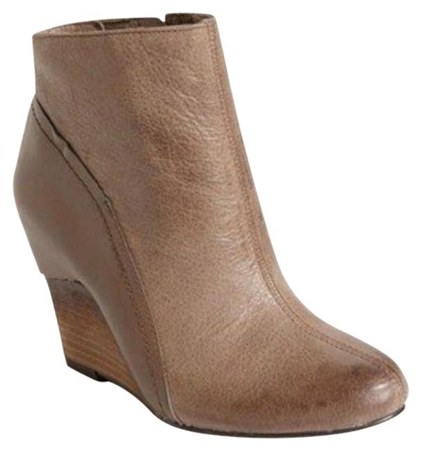 Item - Grey/Taupe Hillari Leather Wedge Ankle Boots/Booties Size US 9 Regular (M, B)