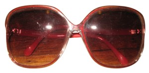 Other Vintage red/clear frame oversized sunglasses