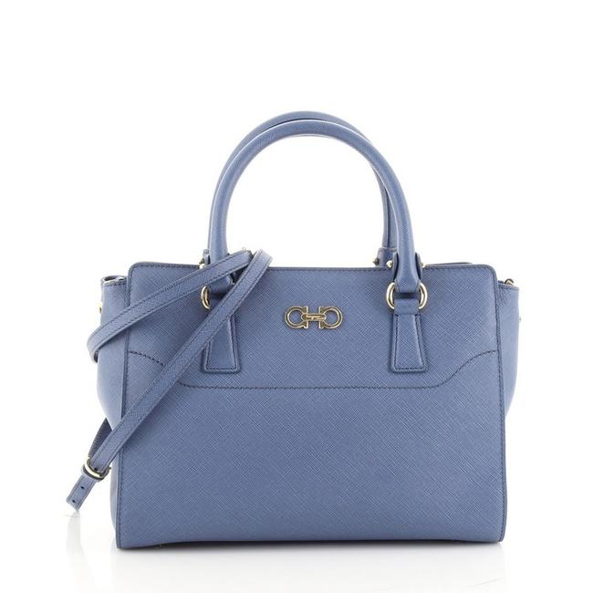 Item - Beky Saffiano Small Blue Leather Tote