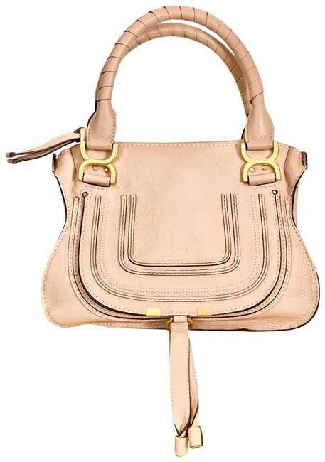 Item - Marcie Small Double Carry In Blush Nude Leather Satchel