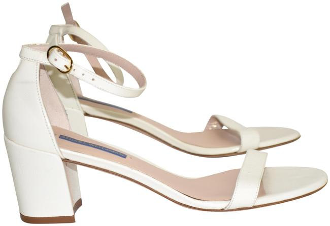 Item - Off White Simple Ankle Strap Chunky (Se28) Sandals Size US 8.5 Regular (M, B)
