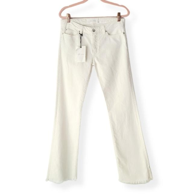Item - White Distressed Flare Leg Jeans Size 28 (4, S)