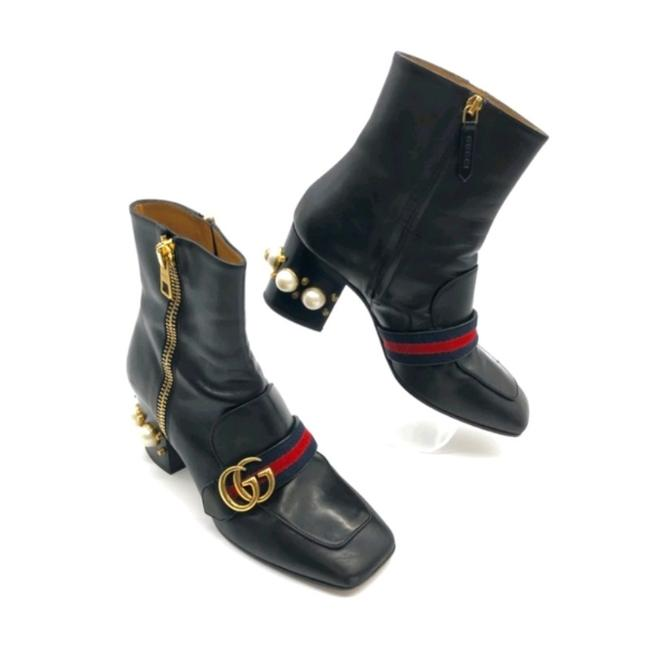 Item - Black Marmont Peyton Pearl Leather Boots/Booties Size EU 37.5 (Approx. US 7.5) Regular (M, B)