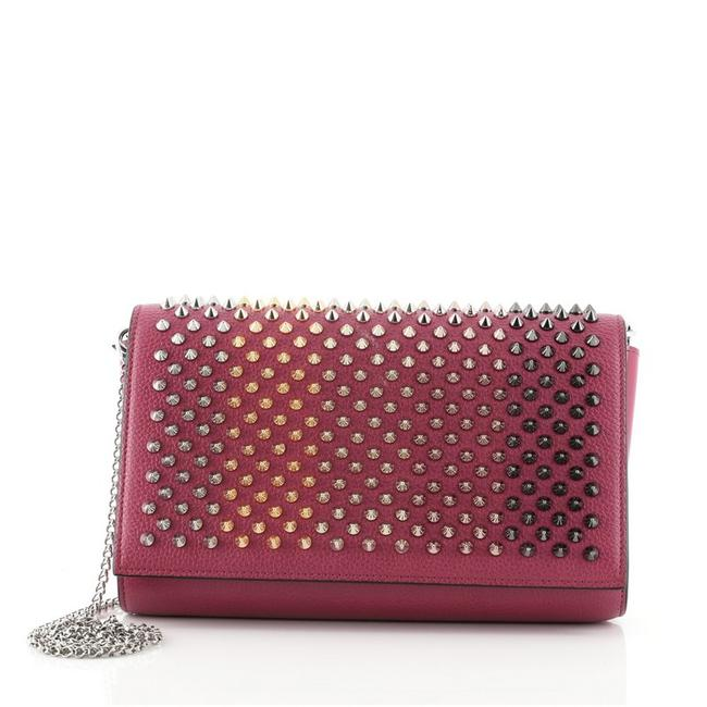 Item - Clutch Paloma Spiked Pink Leather Metal Cross Body Bag