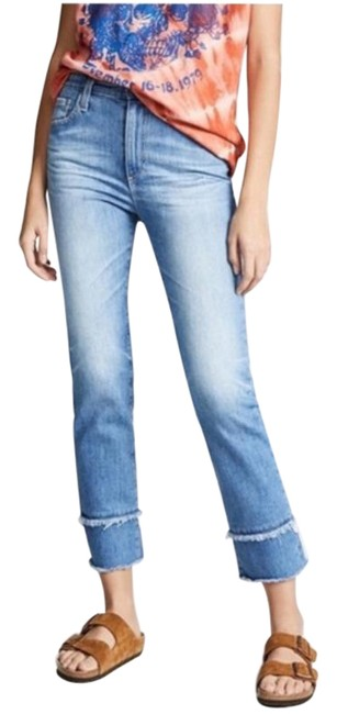 Item - Blue Light Wash The Isabelle Cropped Straight Leg Jeans Size 26 (2, XS)