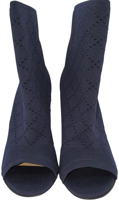 Item - Blue Peep Toes Ankle Made In Italy Boots/Booties Size EU 37 (Approx. US 7) Regular (M, B)