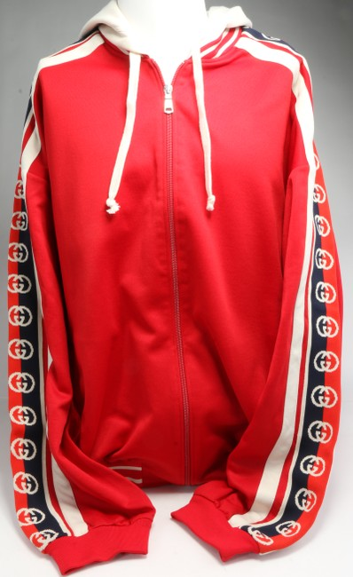 Item - Red Jersey Technical Bomber Jacket Shirt