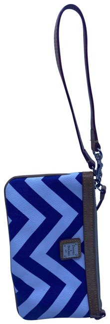 Item - And Stripped White Blue Wristlet