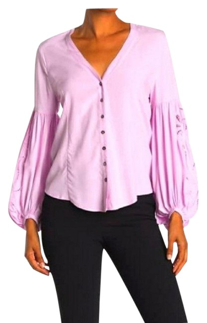 """Item - Purple """"Nwot"""" Orchid Embroidered Balloon Sleeves Blouse Size 8 (M)"""