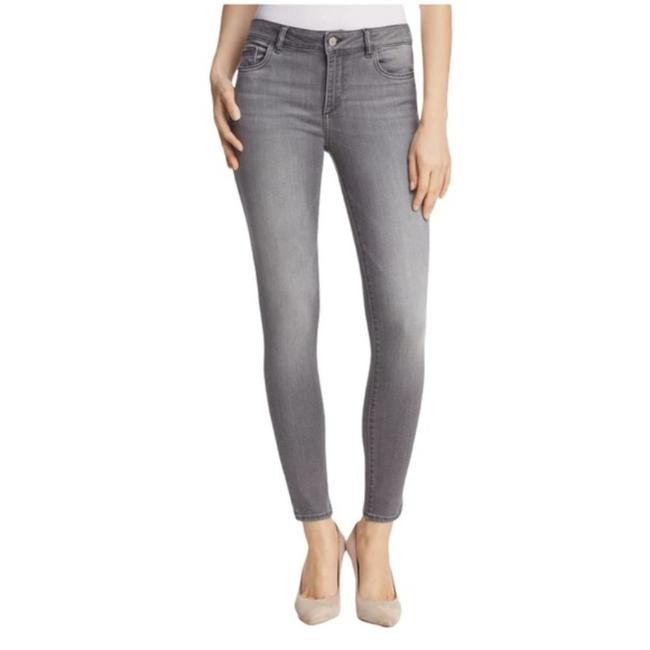 Item - Gray Medium Wash Instasculpt Florence Ankle In Drizzle Skinny Jeans Size 27 (4, S)