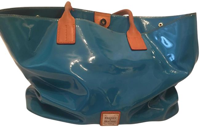 Item - Bag Turquoise Blue/ Green Leather Tote