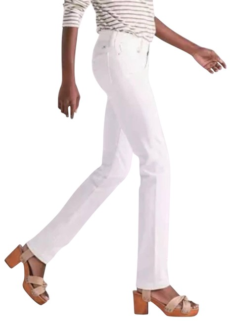 Item - White Pearl Sweet'n Straight Leg Jeans Size 28 (4, S)