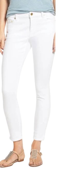 Item - White Izzy Skinny Cropped Jeans Activewear Bottoms Size 8 (M, 29, 30)
