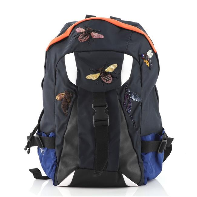 Item - Insect Buckle Embroidered Multicolor Nylon Backpack