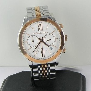 Michael Kors Michael Kors Mk5763 Chronograph Twotone Rose Steel Bracelet 42mm Watch