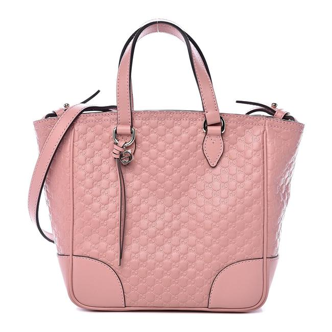 Item - Bree Microguccissima Small Tote Pink Leather Cross Body Bag