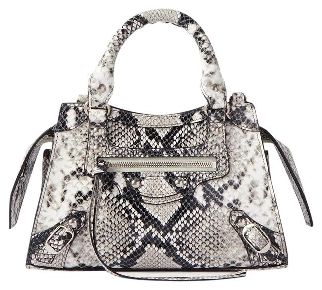 Item - Neo Classic City Mini Snake-effect Leather Tote