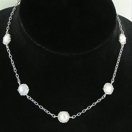 Judith Ripka Judith Ripka Eclipse Station Necklace Mother Of Pearl Sterling Silver