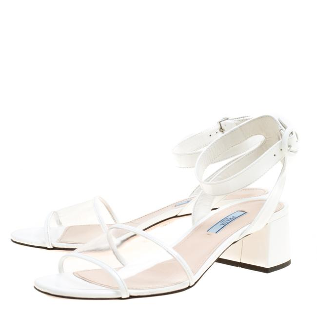Item - White Pvc and Patent Leather Sandals Size EU 39 (Approx. US 9) Regular (M, B)