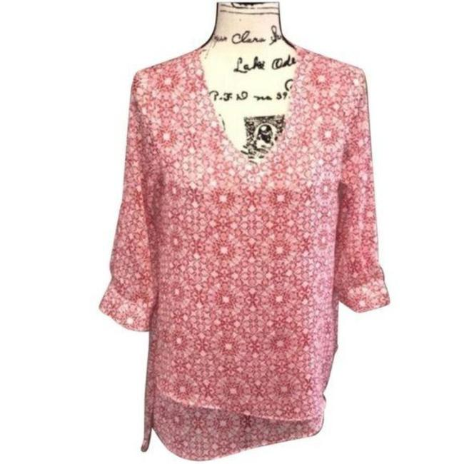 Item - Red White 3/4 Sleeve Blouse Size 4 (S)