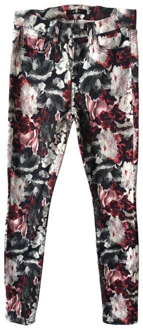 Item - Floral Print High Rise Skinny Jeans Size 2 (XS, 26)