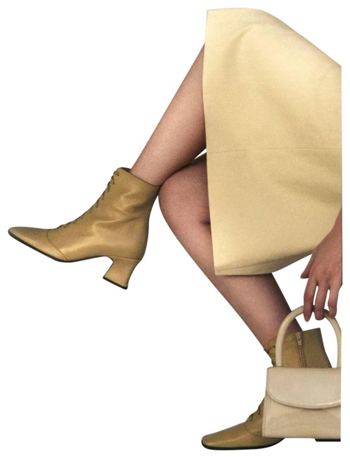 Item - Cream Kate Beige Leather Lace Up Victorian Boots/Booties Size EU 35 (Approx. US 5) Regular (M, B)