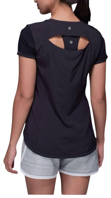 Item - Black Lightened Up Sleeve Small Activewear Top Size 4 (S)