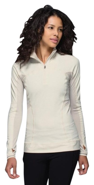 Item - White Gray Run For Gold 1/2 Zip In Ghost Activewear Top Size 10 (M)