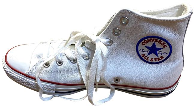 Item - White All Star High Top Leather Sneakers Size US 10 Regular (M, B)