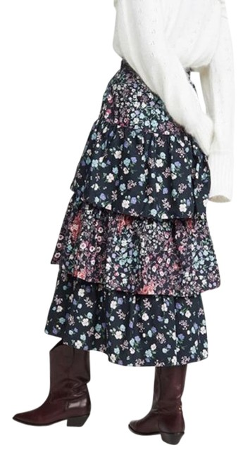 Item - Black Iggy Tiered Ruffle In Multi Skirt Size 4 (S, 27)