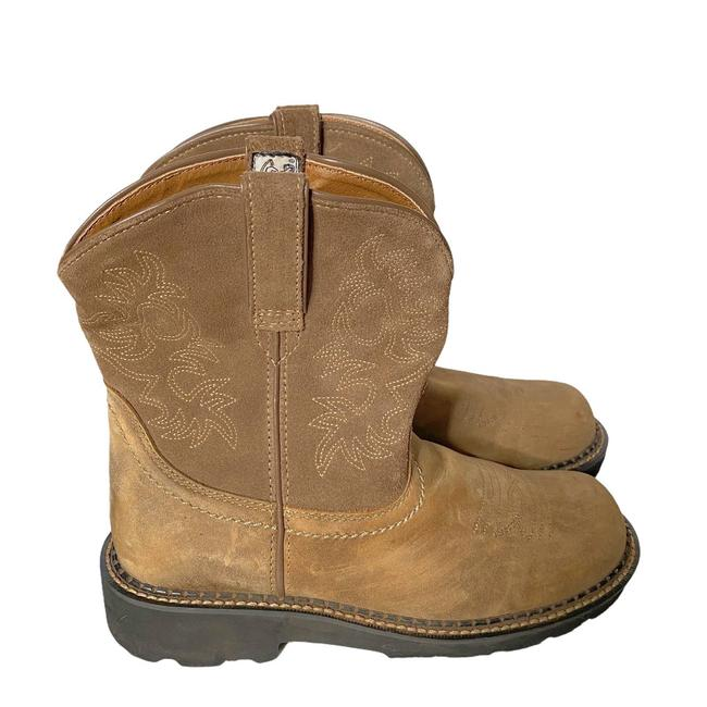 Item - Cream Fatbaby Suede and Leather Western Cowgirl Boots/Booties Size US 9 Regular (M, B)