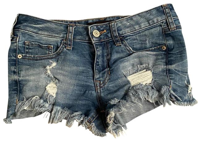 Item - Blue Relaxed Low Rise Denim Shorts Size 2 (XS, 26)