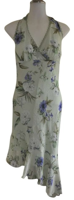 Speechless short dress Light Green w/ Floral Print on Tradesy
