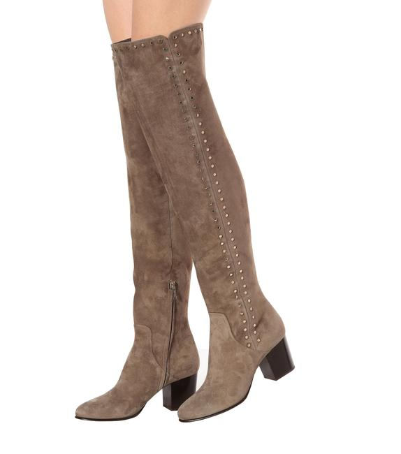 Item - Mink Harlem 65 Studded Suede Over-the-knee Boots/Booties Size EU 36 (Approx. US 6) Regular (M, B)