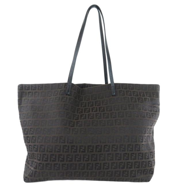Item - Bag Zucchino Leather Ladies Brown Canvas Tote