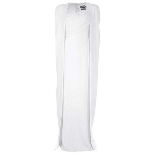 Item - White Iconic with Cape As Seen On Gwyneth Long Night Out Dress Size 2 (XS)