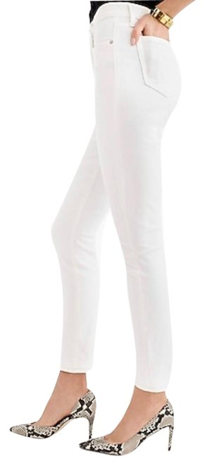 """Item - White 9"""" High Rise Toothpick Skinny Jeans Size 4 (S, 27)"""