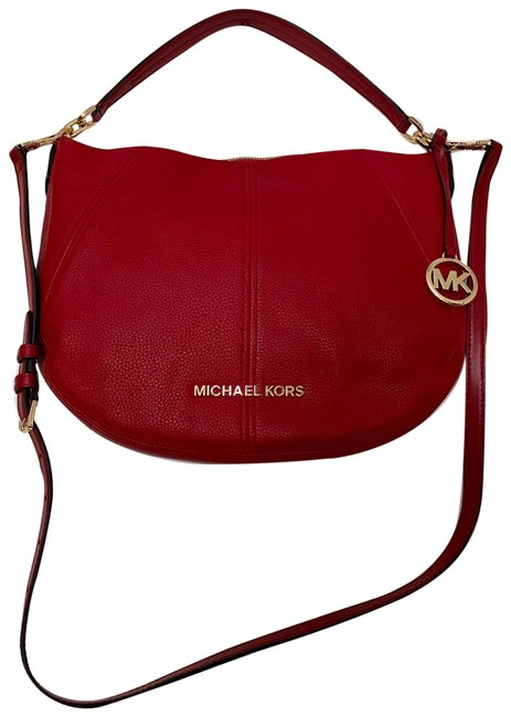 Item - Convertible Red Leather Hobo Bag