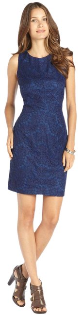 Item - Blue Shift Lace Sleeveless Lined Cocktail Dress Size 14 (L)