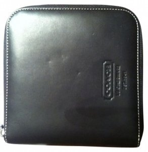 Coach CD Case Leather
