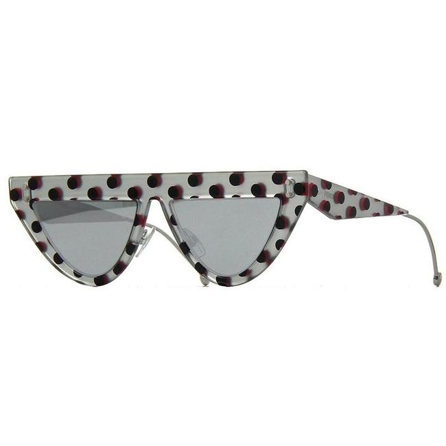 Item - Grey Pois & Grey Silver Defender Mirrored 0371/S Sunglasses