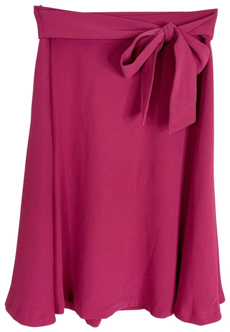 Item - Pink Fuchsia A-line Belted Tie New Skirt Size 2 (XS, 26)