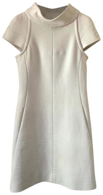 Item - White Cap Sleeve Large Collar In Off Mid-length Short Casual Dress Size 6 (S)