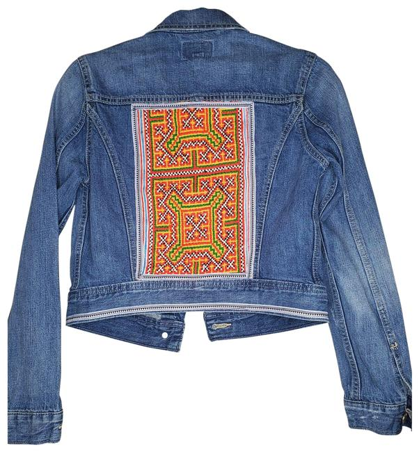 Item - Blue Rework Hmong Tribal Small - Like New Jacket Size 4 (S)