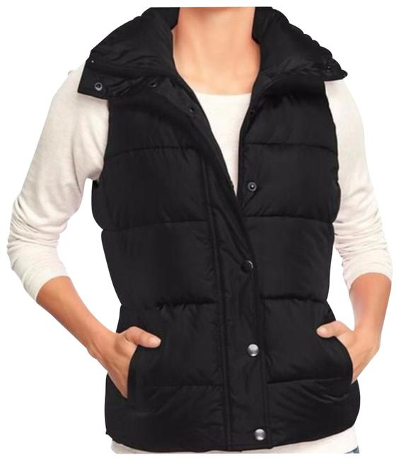 Item - Black Quilted Puffer M Vest Size 8 (M)