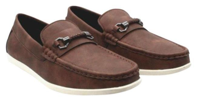 Item - Brown Little Big Boys Driving Loafers Boots/Booties Size US 7 Regular (M, B)