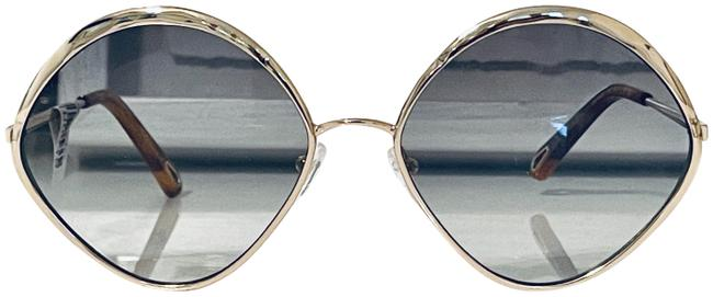 Item - Gold and Pale Green New Diamond Designer Made In Italy Sunglasses
